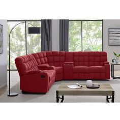 Best Fabric Sectionals With 2 Recliners 3 Piece Sectional Sofa, Fabric Sectional, Sleeper Sectional, Reclining Sectional, Corner Sectional, Sofa Furniture, Living Room Furniture, Furniture Design, Toss Pillows