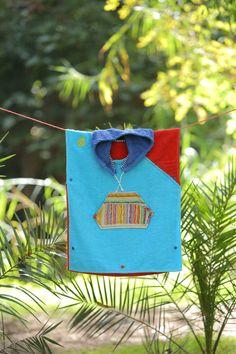 handmade and custom kids' towel poncho