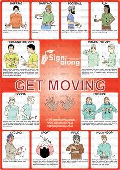 Signalong Signs for Get Moving - Freebie Friday poster - not available to purchase.