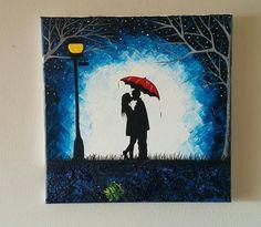 Original Couple kissing in the rain wall artcouple от ArtByRangrez