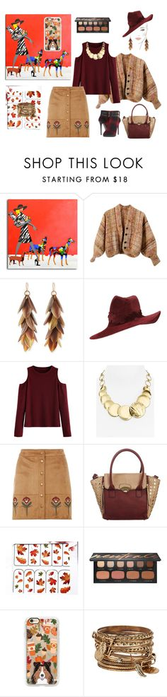 """""""Autumn Gold"""" by pathwaysthroughtime ❤ liked on Polyvore featuring Chanel, Ashley Pittman, Philip Treacy, Robert Lee Morris, Dorothy Perkins, Bare Escentuals, Casetify and ALDO"""