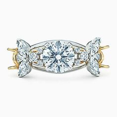 Tiffany & Co. Schlumberger® Two Bees ring in platinum and gold with diamonds.