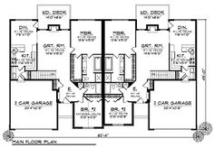 Duplex Plan chp-37767 at COOLhouseplans.com