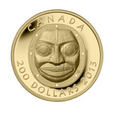 Pièce en or pur à très haut relief - Masque Grandmother Moon - Tirage : 500
