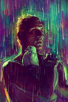 Blade Runner by Quinnzel Kills qz kills - Movie Blade Runner Wallpaper, Blade Runner Art, Blade Runner 2049, Runner Tattoo, Roy Batty, Neon Noir, Arte Cyberpunk, Cyberpunk Movies, Sci Fi Movies