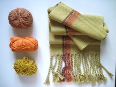 Mustard Handwoven Scarf, Yellow Pima Tencel and Multi Öko Fiber handwoven Scarf - 'Smoky Maiz' Color Palettes, Mustard, Scarves, Hand Weaving, Yellow, Crafts, Inspiration, Ideas, Loom