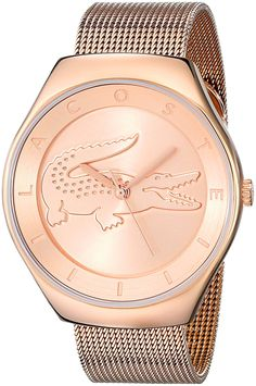 Lacoste Women's 2000872 Valencia Rose Gold-Tone Stainless Steel Watch * Click image to review more details.