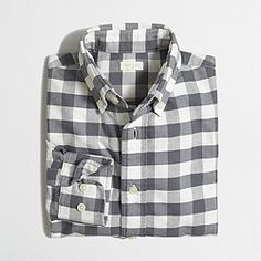 Factory boys' patterned oxford shirt
