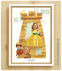 Si os ilusiona que este año el Día de la Madre sea especial, un regalo único y muy pirata, nosotros encantados de echaros una pata de palo. Además de nuestro árbol genealógico y láminas familiares, hemos creado esta ilustración... ¡para la reina del castillo y de nuestro corazón! Felicidades Super Mamá.