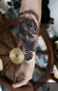 Realistic forearm by Iwan Yug.