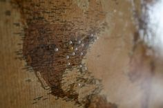 DIY Cork Map | www.gimmesomestyleblog.com #map #travel #DIY