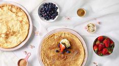 Křehké skořicové palačinky Lidl, Dumplings, Hummus, Pancakes, Pudding, Favorite Recipes, Breakfast, Ethnic Recipes, Food