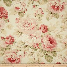 Richloom Queen Floral Tearose from @fabricdotcom Screen printed on laundered cotton duck with a distressed appearance. This medium weight fabric is very versatile and has a nice hand, perfect for window treatments (draperies, curtains, valances, and swags), bed skirts, duvet covers, pillow shams, accent pillows, tote bags, aprons, slipcovers and upholstery. Colors include taupe, tan, shades of pink and cream.