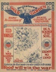 victory garden poster, WWII propaganda poster, war garden, food will win the war!