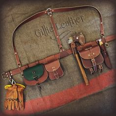 Bushcraft Belt Kit – By Gillie Leather – Manuel Rocker – – rickie french 363 – bushcraft camping Leather Suspenders, Leather Belts, Leather Bag, Bushcraft Gear, Bushcraft Camping, Bushcraft Skills, Leather Rifle Sling, Leather Craft, Handmade Leather