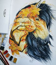 Autumn horse by Jonna Lamminaho (Scandy_girl)