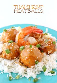 Pork and shrimp meatballs covered in a thai peanut sauce, or you can use it for dipping!
