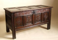 17TH CENTURY ENGLISH OAK CHEST (17th century ENGLISH (SOUTH WEST ENGLAND))