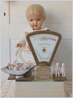 **Doe me maar een paar onsjes vintage popjes voor mijn poppenateliertje**