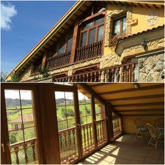 Cerramiento de terraza en color madera. Proyecto realizado por nuestro cliente VENTANA Y HOGAR. www.ventanayhogar.es