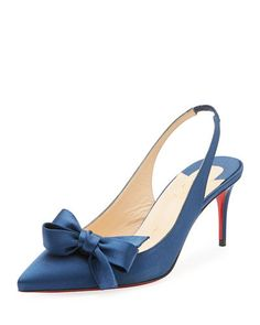 23bdf2577734 CHRISTIAN LOUBOUTIN YASLING BOW SLINGBACK RED SOLE PUMP.  christianlouboutin   shoes