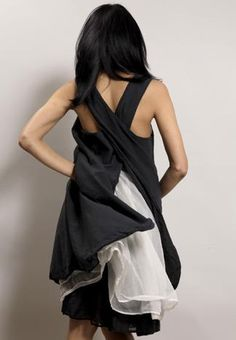 Apron dress over organza gathered skirts by Pip Squeak Chapeau, made in Brooklyn...love this!!!
