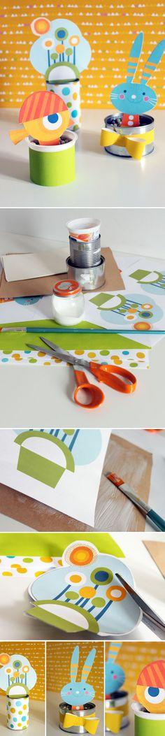 Purkkipuutarha.  lasten | askartelu | pääsiäinen | käsityöt | koti | paperi | DIY ideas | kid crafts | Easter | home | paper crafts | Pikku Kakkonen