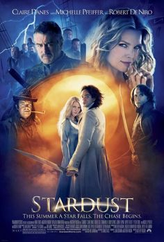 """""""Stardust"""" -- A young man has to find a fallen star in a magical land that borders his town. Stars Claire Danes and narrated by Ian McKellan. Also featured are Michelle Pfeiffer, Robert De Niro and Charlie Cox. Claire Danes, Neil Gaiman, Streaming Movies, Hd Movies, Movies Online, Hd Streaming, Watch Movies, Movies Free, Tv Watch"""