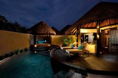 Exotic outdoor space.