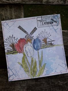 Different Colors, Holland, Scenery, Card Making, Books, How To Make, Cards, Stamping, The Nederlands