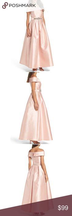 Eliza J Mikado ball gown rhinestone belted NWT Eliza J Dresses Prom