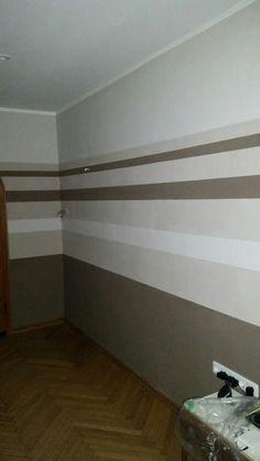 Wohnzimmer Wandgestaltung Streifen