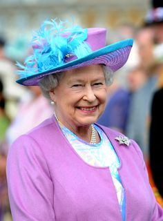 The Queen thinks pink.