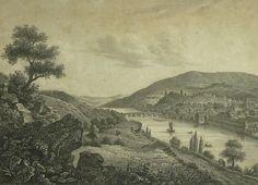 BLICK AUF HEIDELBERG. frühes 19. Jahrhundert.