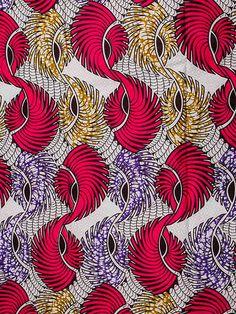 African Fabric Super Wax Print 6 Yards 100 por Africanpremier