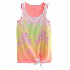 SO Fun In The Sun Neon Tank Set - Girls 7-16 #Kohls