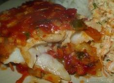 Ryba pieczona z czosnkiem w sosie pomidorowym Meatloaf, Lasagna, Food And Drink, Ethnic Recipes, Lasagne, Meat Loaf