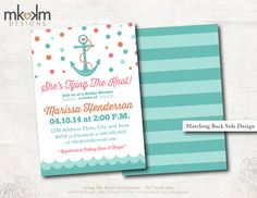 Bridal Shower Invitation : Tying The Knot  by MKKMDesigns on Etsy