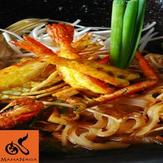 Taste this mouthwatering Phad Thai River Prawn prepared with the most magnificent cuisine skills and taste at MahaNaga