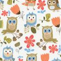 WHIMSICAL OWLS FABRIC - Animals & Nature - Novelty Fabrics - Fabric - Nancy's Notions