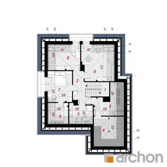 Dom w sansewieriach House Plans, Floor Plans, Contemporary, How To Plan, Houses, Home, Projects, House Floor Plans, Floor Plan Drawing