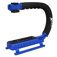 Opteka X-GRIP Professional Camera / Camcorder Action Stabilizing Handle with Accessory Shoe for Flash, Mic, or Video Light (Blue) - For Sale Check more at http://shipperscentral.com/wp/product/opteka-x-grip-professional-camera-camcorder-action-stabilizing-handle-with-accessory-shoe-for-flash-mic-or-video-light-blue-for-sale/