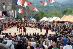 """""""Ritterfest"""" is Kapfenberg's medieval festival and the city's biggest annual event Sound Of Music, Alps, Austria, Medieval, Dolores Park, Country, City, Travel, Beautiful"""