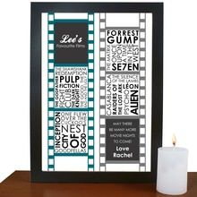 Personalised Favourite Films Poster