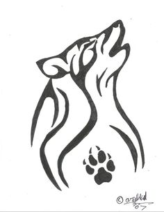 howling wolf-tatoo I think wolves are good celtic #tatoo #celtic #wolf