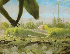 Hypsilophodonts by Doug Henderson