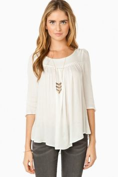 Hollins Blouse in Ivory