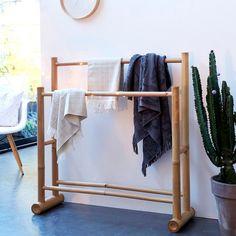 Porte serviette de salle de bain bambou Balyss