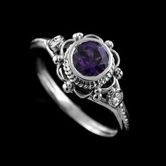 Hey, I found this really awesome Etsy listing at https://www.etsy.com/listing/170249462/victorian-style-round-bezel-set-amethyst