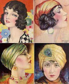 Make-up Advice to Flappers 1925 Fashion History, Fashion Art, Vintage Fashion, 1950s Fashion, Victorian Fashion, Vintage Prints, Vintage Ladies, Retro Vintage, Vintage Makeup